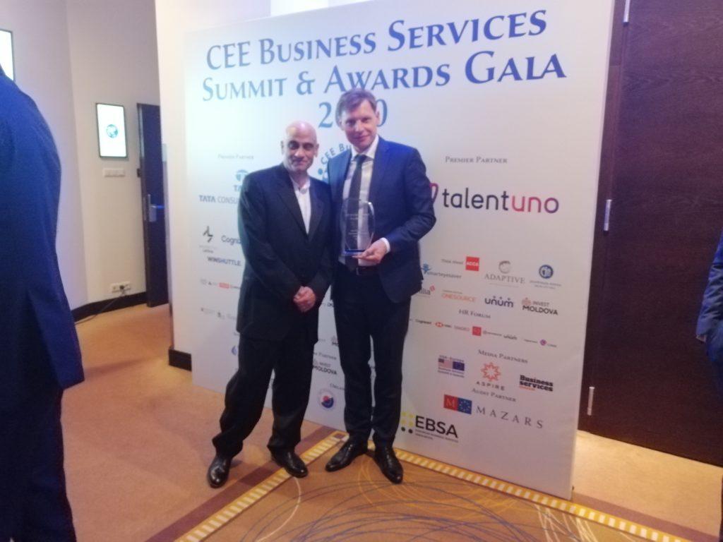 Zdjęcie z konferencji CEE Business Service Summit & Awards 2020